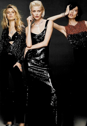 Karlie, Marina and Olga on Harper's Bazaar November'15