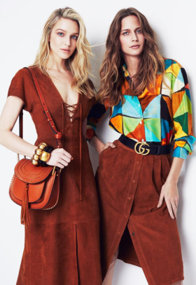 Ania and Rachel on Harper's Bazaar February'16
